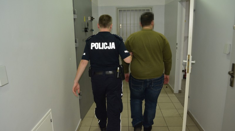 atak na policjanta