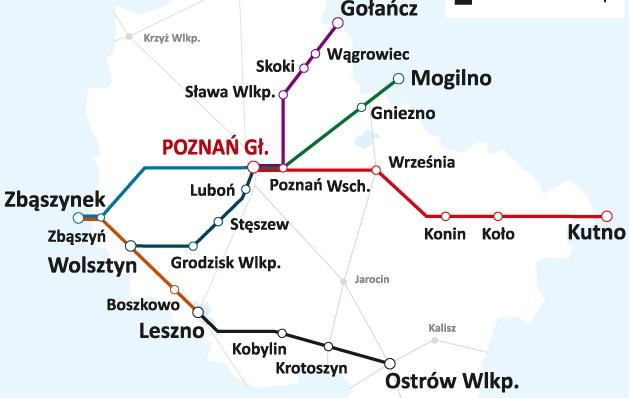 mapka koleje wielkopolskie 1