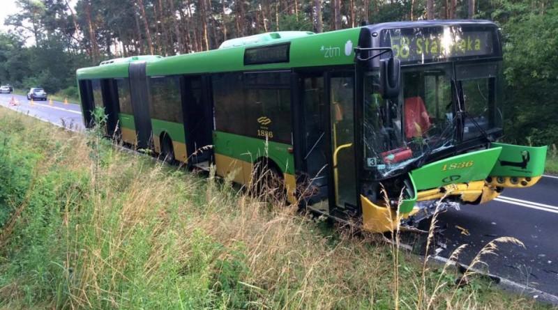 poznań psp wypadek autobus