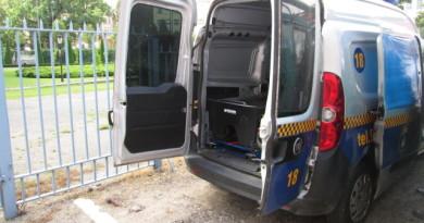straż miejska uszkodzony radiowóz