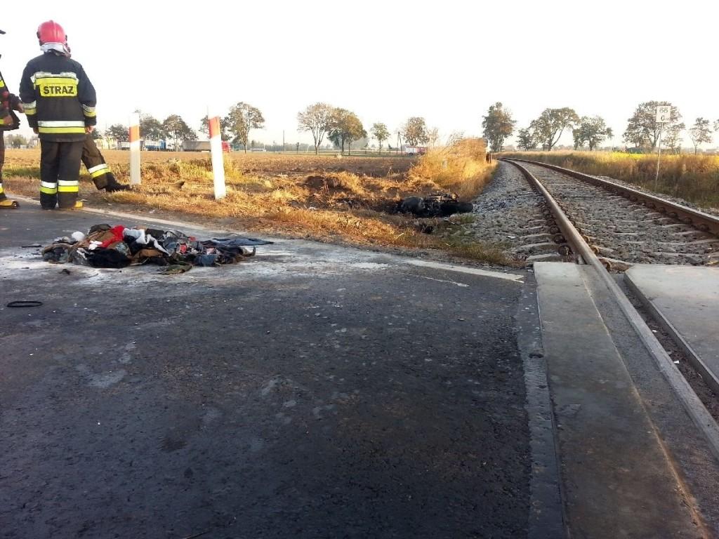 grodzisk przejazd wypadek motocykl1