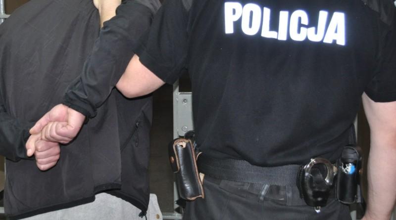 policja areszt kraty kajdanki