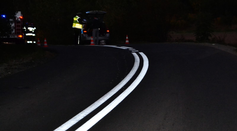 policja wypadek łuk drogi