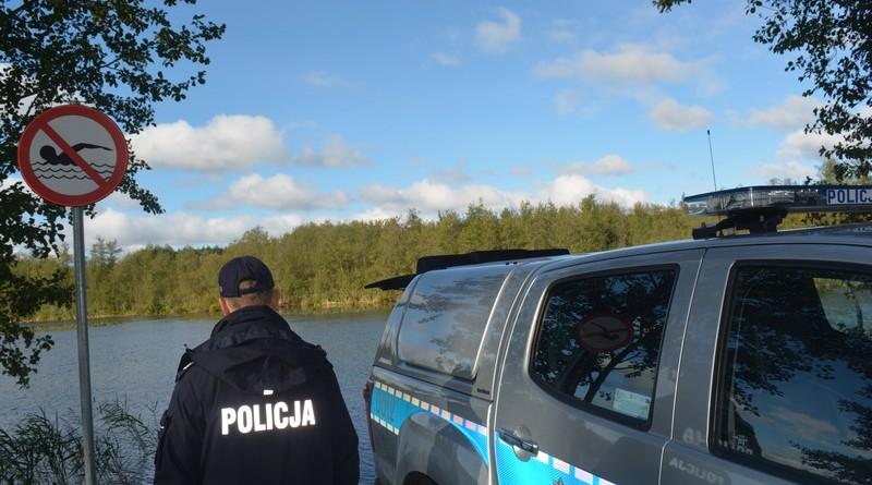Policja jezioro