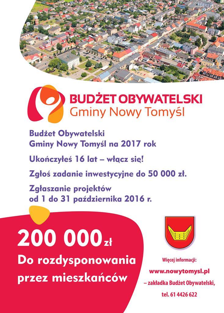 budżet obywatelski Nowy Tomyśl