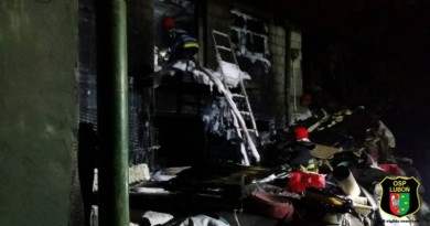 pożar plewiska osp luboń