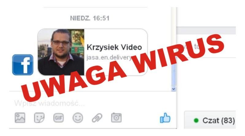 uwaga wirus facebook