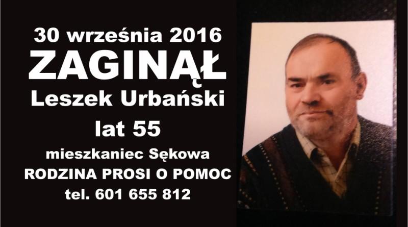 zaginął Leszek Urbanski