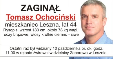 zaginął Tomasz Ochociński