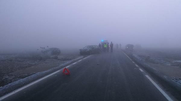 policja wypadek mgła