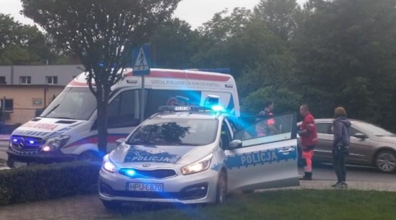 policja karetka wypadek aa