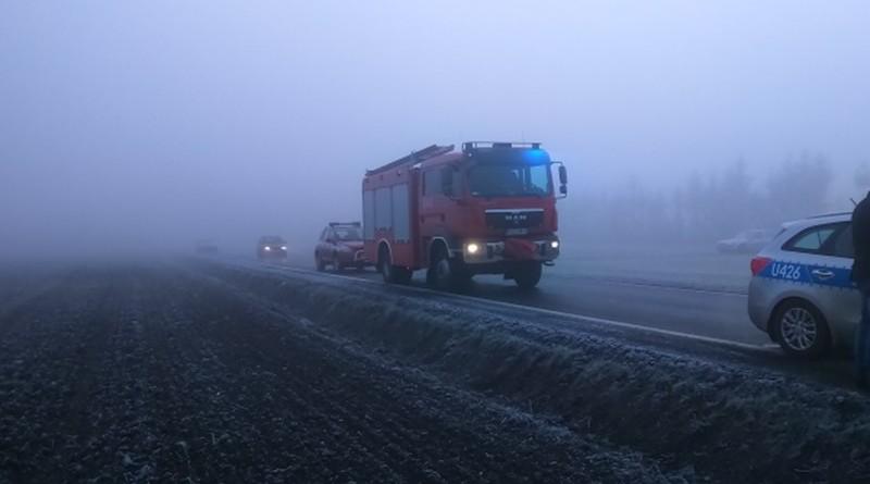 straż pożarna mgła