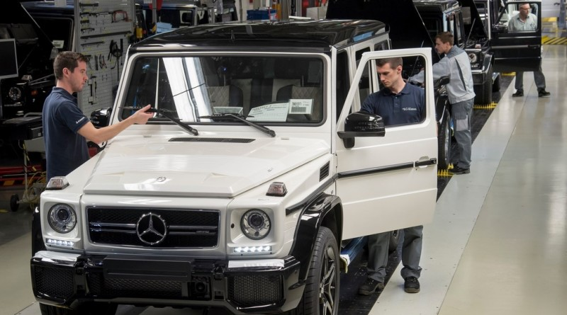 Produktion der Mercedes-Benz G-Klasse im österreichischen Graz. ;Kraftstoffverbrauch kombiniert 13,8 l/100 km, CO2-Emissionen kombiniert 322 g/km  Production of the Mercedes-Benz G-Class in Graz, Austria.; Combined fuel consumption 13.8 l/100 km, combined CO2 emissions 322 g/km