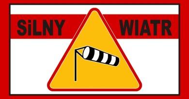 ostrzeżenie silny wiatr