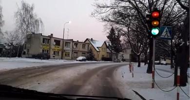 Nowy Tomyś zaśnieżone drogi 08.01.2017
