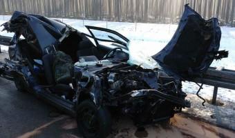 Nowy Tomyśl – Policja o dzisiejszym wypadku na pomiędzy węzłami Trzciel – Nowy Tomyśl! Mieszkaniec grodziska z poważnym urazem głowy w szpitalu w Poznaniu! ZDJĘCIA