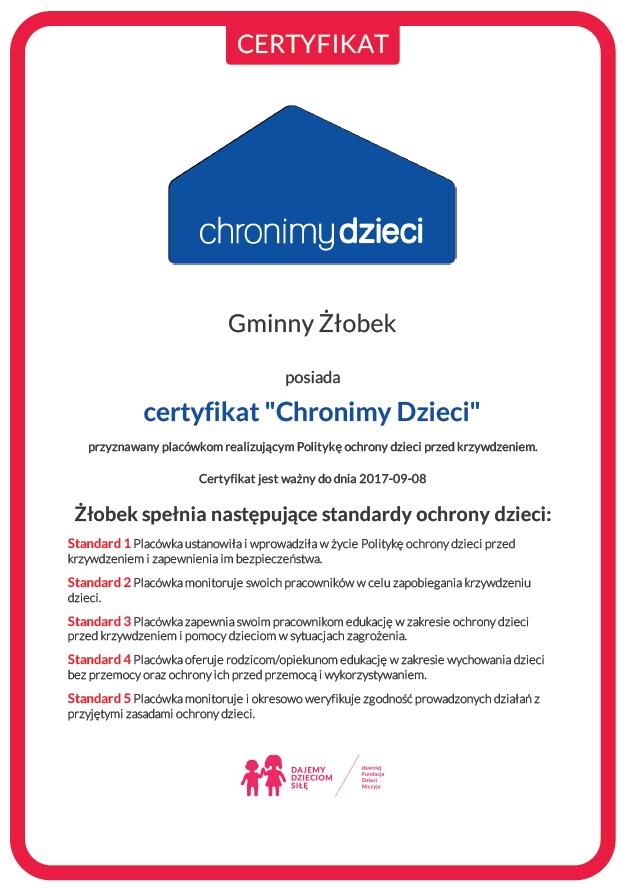 certyfikat_zlobek_wolsztyn