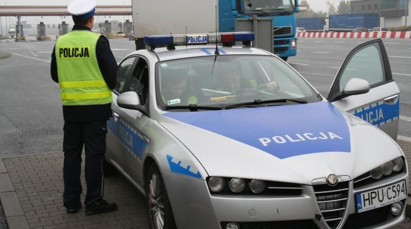 policja, cieżarówka kon