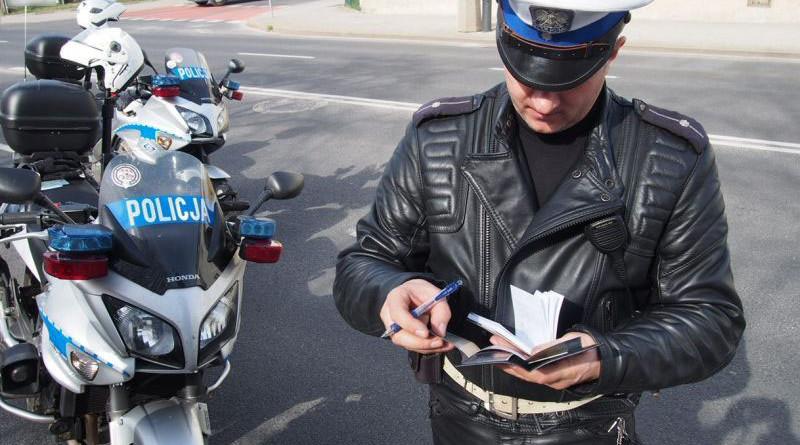 policja motocykl mandat