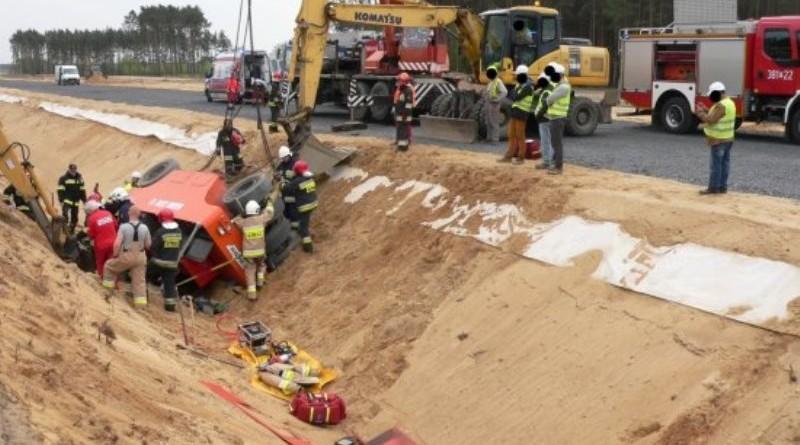 Kolejny wypadek na na placu budowy drogi ekspresowe S5 Poznań – Leszno! ZDJĘCIA