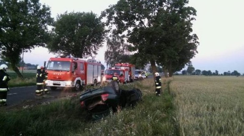 Krotoszyn – Poranny wypadek na DK 15
