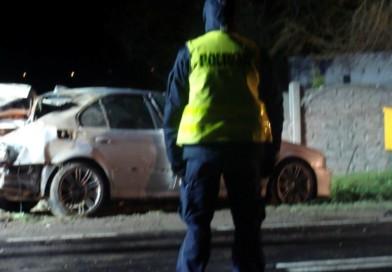 Międzychód – Dziś w nocy 29-letni kierowca BMW zginął na miejscu! Pędził bez zapiętych pasów przez Wielowieś i nie opanował auta! ZDJĘCIA