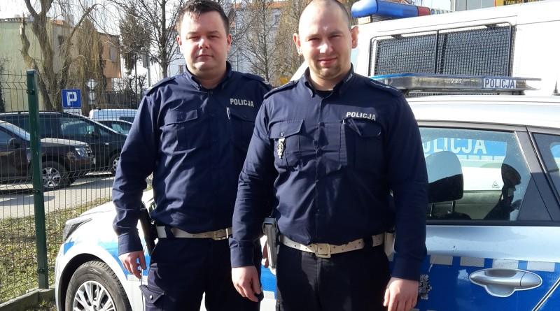 Policjanci Tomasz Gomułka Karol Balcerzak