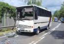 Zderzenie dwóch autobusów przewożących dzieci i ciężarówki na DW 434 pod Kórnikiem