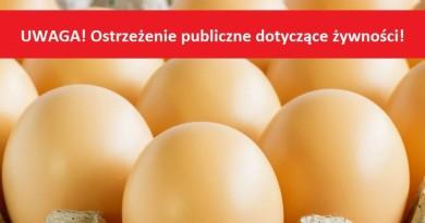 UWAGA ! Stwierdzenie pałeczek Salmonelli w jajach kurzych