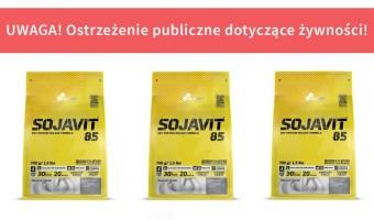 Wycofanie suplementu diety: Sojavit 85 Soy Protein Isolate Formula, 700 g z powodu wykrycia niedeklarowanego białka mleka