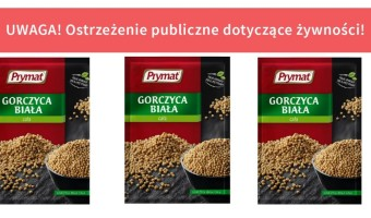 """Uważajcie ! Wykryto Salmonella Typhimurium w produkcie """"Gorczyca biała cała"""" 30 g marki Prymat"""