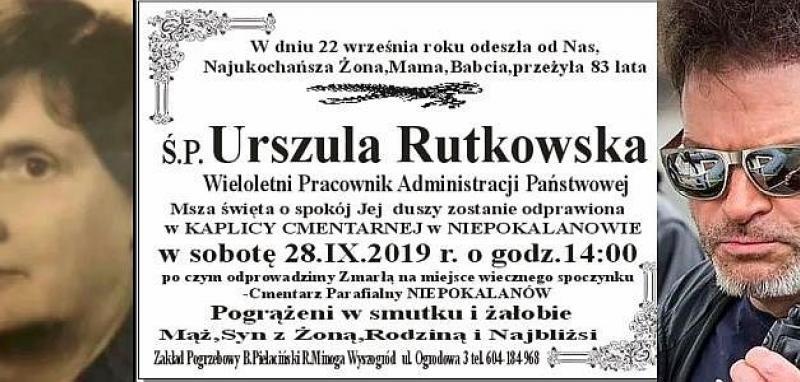 pogrzeb Urszuli Rutkowski